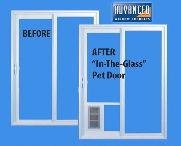 Before and After Pet Door