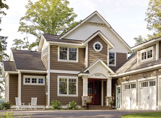 Wood look vinyl siding visit our gallery page to see for Synthetic wood siding