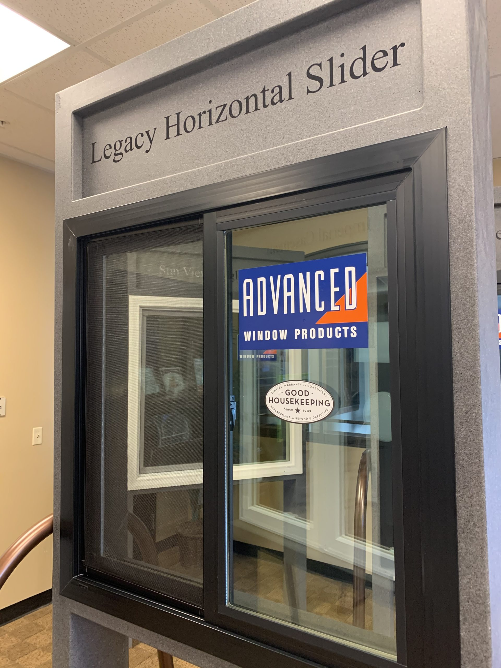 Horizontal Sliding Window Front- Legacy Series Energy Efficient Black Windows in Utah- Advanced Window Products
