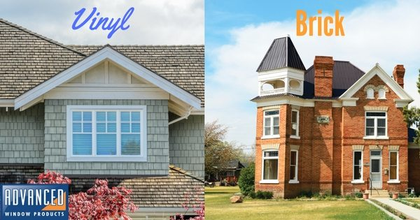 Vinyl Vs Brick Siding Advanced Window Products