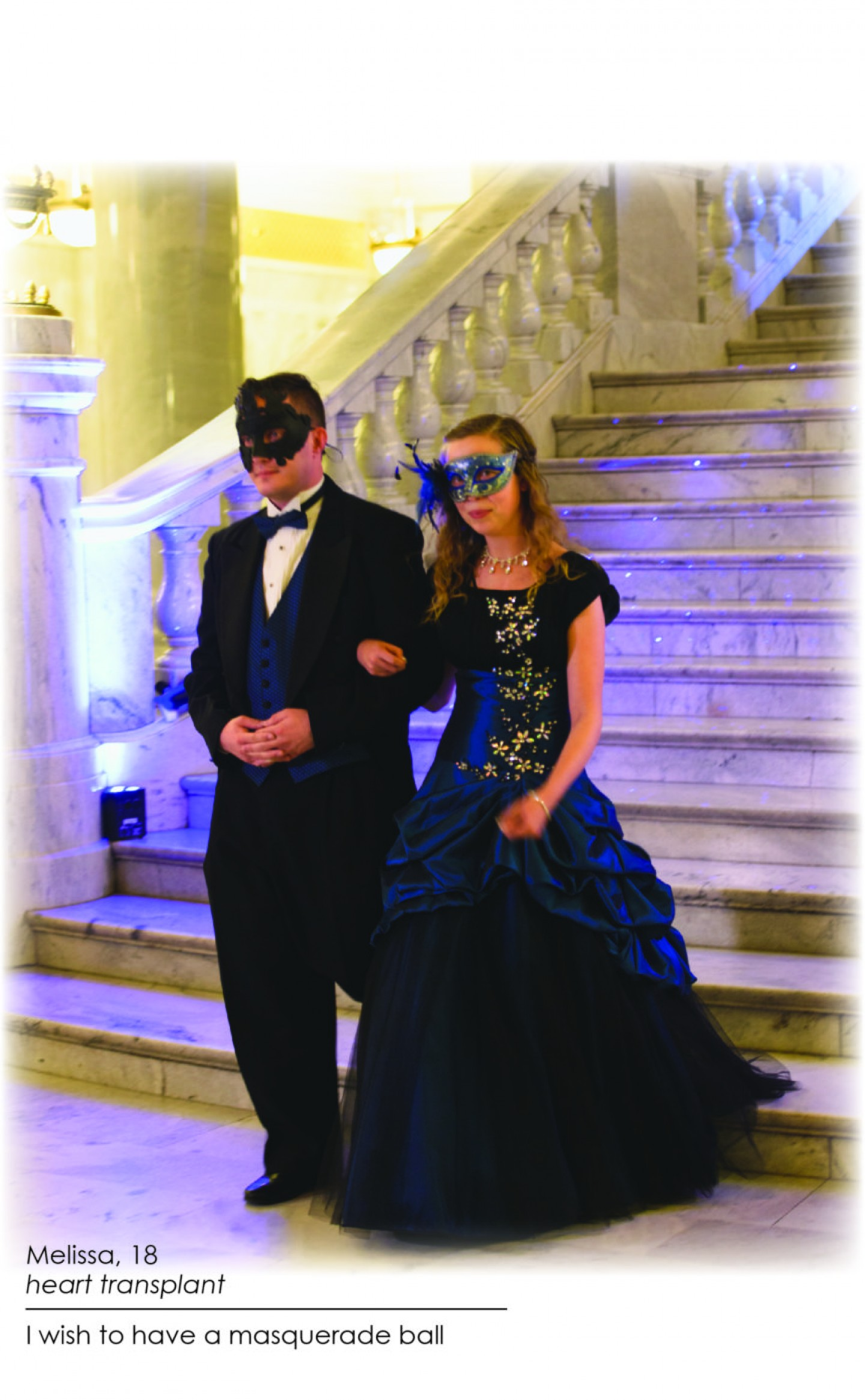 Melissa wished to have a Masquerade Ball