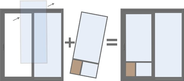 How Pet Door Works Illustration - Best Dog Door for Sliding Glass Door Utah  - Advanced - Best Dog Door For Sliding Glass Doors In Utah - Adv Windows