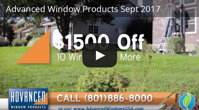 $1500 off offer From Advanced Window Products in Salt Lake City, Utah